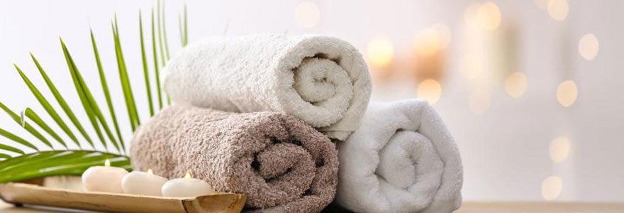 Linge serviette de bain